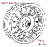 Razzo Lucca - Velg Achter (B57-44211-00-00 2.15-10)