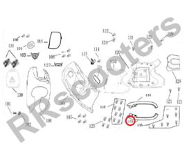 BTC Milano - Side-skirt LINKS (nr. 133) - kleur: Creme - (BTC.2212.PK.310)