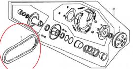 """Neco Azurro - Aandrijriem (10"""") - BN152QMI-1500013"""