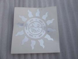 Sticker Zon chroom