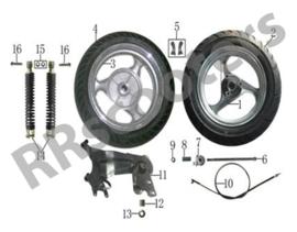 Razzo Venice (125cc) - Schokbreker SET ACHTER (links & rechts) (nr. 14)-  TI31-140100000