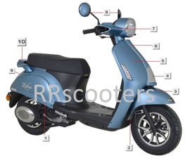 Razzo Latina - Spiegelset (nr. 8) - kleur: Blauw