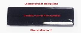 Pico - Chassisnummer afdekplaatje (VAK P-33)