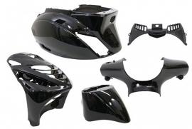Kappenset - geschikt voor Piaggio Zip-SP 5-dlg zwart-metallic (G_218310)