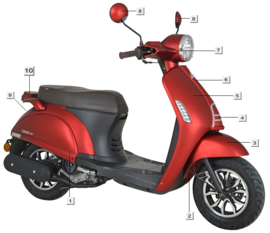 Turbho RP-50 / Kappen / kleur: mat rood