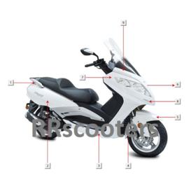 Razzo Steed (125cc) - Neus (voorkap) - Kleur: wit - nr. 7 (F03-01C)