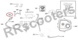 Neco Azurro 125cc. (EFI) - Benzinefilter (nr. 293) - (M39375-AFAA-9000)