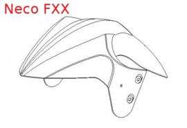 Neco FXX - Voor-spatbord (black edition) - QBK-42101-0000BLACKED