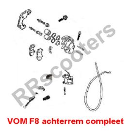 VOM - F8 - Achterrem compleet (GT F7 50-040600)