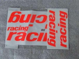 Stickerset RACING oranje