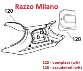 Razzo Milano - Kap nr. 120 - VOETPLAAT (WIT) (64310-JKC-9000 B)