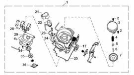 Razzo Venice 125cc.  - Carburateur  -  (nr. 1) - 152QMI-14-0001