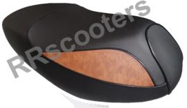 Lintex Jet - Zadel (zwart met bruin)