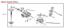 Razzo Steed (125cc) - Carburateur compleet - 152QMI-14-0001