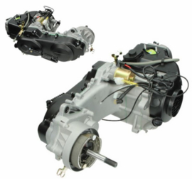 """Motorblok 139 QMB GY6 compleet 50cc - 10"""" (Lange as) - Euro 4 (Injectie) - 13P6284"""