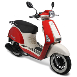 AGM Star50 Pimpstyle - Rood/Wit   (Euro 4)