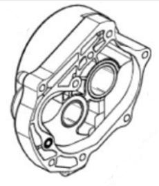 1 - Transmissiedeksel GY6 (M_89312)
