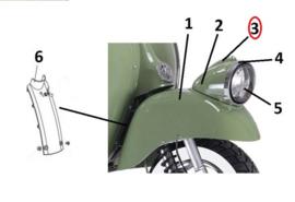 Neco Abruzzi '65 - Koplampsier strip - (diverse kleuren) (nr. 3) - 92100-J23-0000