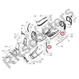 Motobi BC1 - Chromen sierlijst SET LINKS (2-delig !!!)