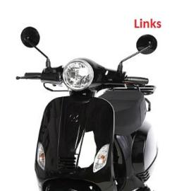 China LX - Spiegel - GLANS ZWART - Links - (M8 schroefdraad) (VAK E-30)