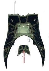 Turbho CD-50 / Accudeksel t.b.v. voetplaat (nr. 3) - 10040060190000