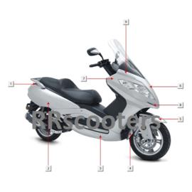 Razzo Steed (125cc) - Neus (voorkap) - Kleur: zilver - nr. 7 (F03-01B)
