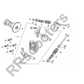 Razzo Steed (125cc) - Inlaatklep (nr. 11) - 101402-152QMI-0001
