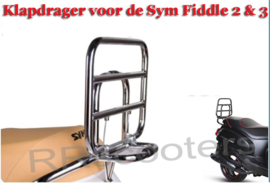 Sym Fiddle 2 of 3 - Klapdrager Chroom (achter) - C_29SY362)