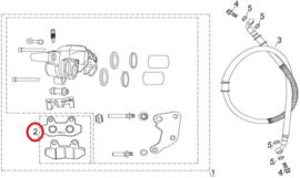 Razzo Lucca - Remblokken Voor (nr. 2) -  B56-45230-00-00 - (VAK B-60)
