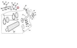 BTC F22 - 1x BOUT (onder) - Uitlaatbevestigingsplaat (nr. 440) - RVS M8 x 45 + ringen !