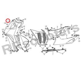Razzo SR-50 / kap (nr. 1)  zwart kunststof (QBM-42501-1000)