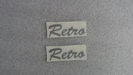 "Sticker SET ""Retro"" (6 x 2 cm.) (VAK B)"