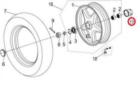 Neco Abruzzi (50cc./125cc.) - Magnetische aandrijving kilometerteller (nr. 17) - J08-51120-00