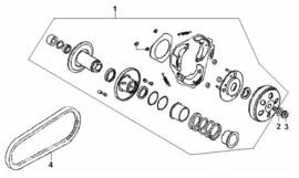 Razzo Steed (125cc) - Aandrijfriem (842-20-30) nr. 4 - 152QMI-11-0013 (VAK B-115)