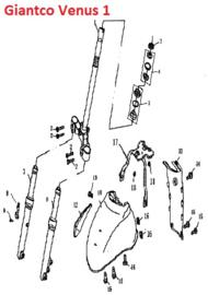 Giantco Venus 1 - Voorvork / Kroonstuk / T-stuk - nr. 1 - 50QT-A-010101