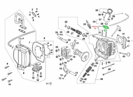 Pakking nr. 5B - inlaat spruitstuk 50cc. (VAK B-35)