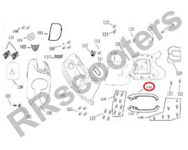 BTC Milano - Side-skirt RECHTS (nr. 134) - kleur: Creme - (BTC.2215.PK.310)