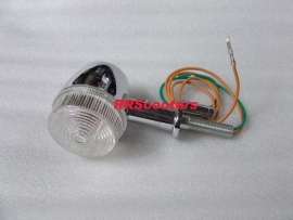 11 - richtingaanwijzer / knipperlicht bij achterlicht, links of rechts, WITTE glaasjes (VAK B-26)