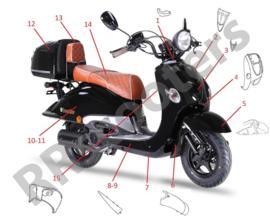 Neco Borsalino ORO - Voorkap (nr.4) - Zwart - M64301-LKA3-9000BLA2014