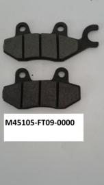 Neco Alexone - Remblokset (ACHTER) - nr. 2 + nr. 3 - 45105-FT09-0000 + 45106-FT09-0000