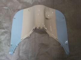 8 - Retro kappenset, Beenschild gelakt, kleur: Blauw/Wit (VAK E-5)