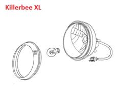 Killerbee XL - koplamp (compleet) - 320100-TAMD-0000