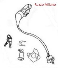 Razzo Milano - Contactslot met 2 sleutels - (35010-JKC-9000)