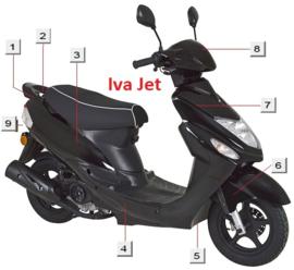 Iva Jet - Spatbord Voor - kleur: zwart (nr. 6)