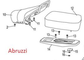 Neco Abruzzi - 2-delig zadel (inclusief montage materiaal)