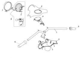 Neco Abruzzi - Handvaten set (ZWART) (nr. 5 + 6) - M64100-J23-0000BLA + M64200-J23-0000BLA