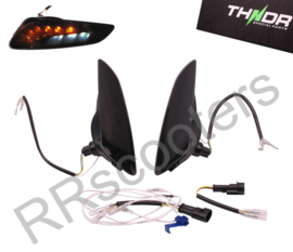 "Vespa Sprint / RAW-set ACHTER / LED met SQ + Remlicht ""THNDR"" - Smoke - 067032"