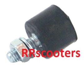 12 - Hoofd/midden standaard rubber stootblok (met draadeind M6 & moer) (VAK C-64)