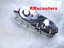 26 - Kickstartdeksel / variodeksel links chroom 10 inch. / Carterdeksel (VAK D-7)