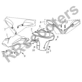 Razzo SR-50 / Spiegelset (nr. 7) - met vaste schroefdraad - QBK-81700-0000